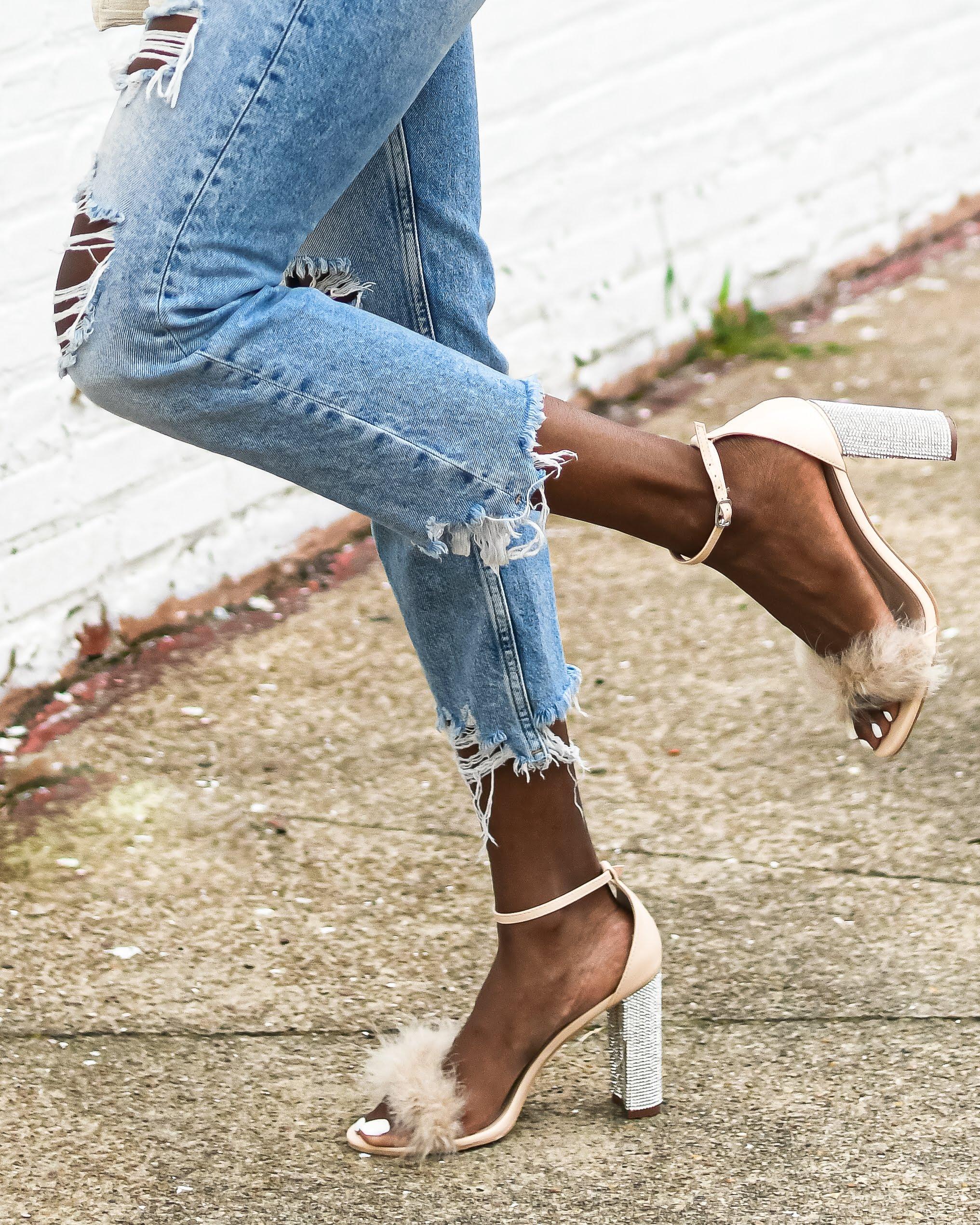 Feather heels